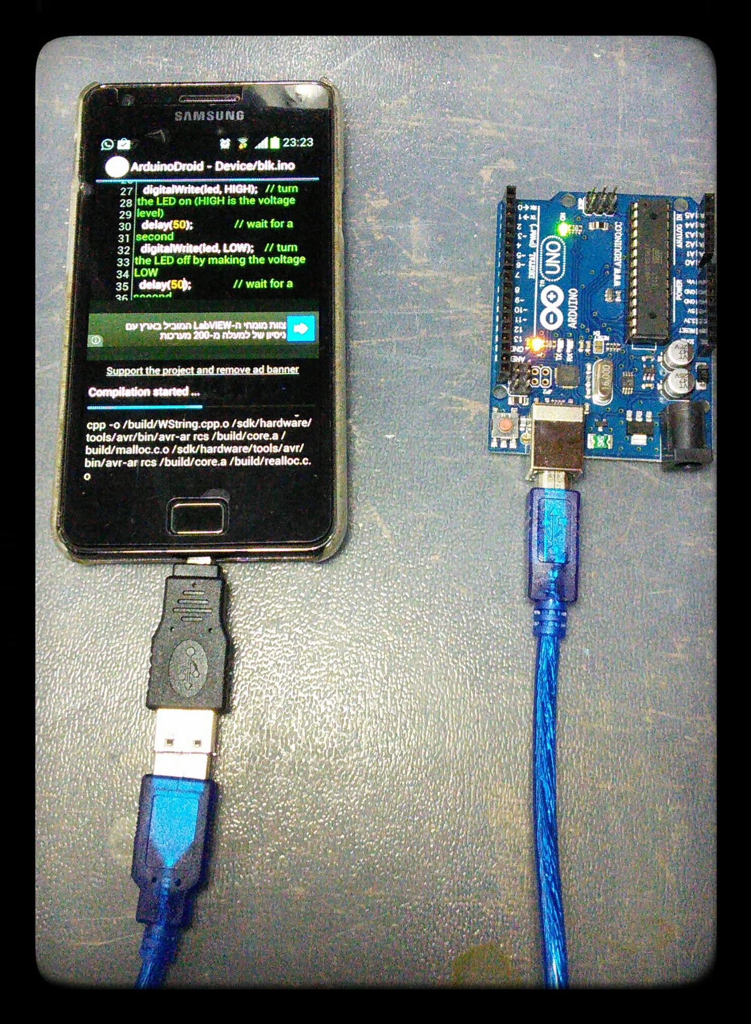 Samsung Galaxy S2 and Arduino